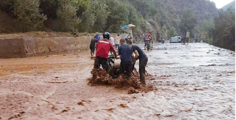 مرة أخرى فيضانات وأمطار رعدية تفاجئ المواطنين والسياح بأوريكا