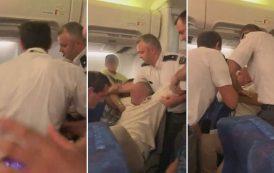 فيديو/ رعب داخل طائرة رومانية بعد تعرض مغربية وزوجها المصري للضرب المبرح على يد الشرطة !