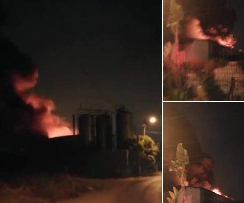 """فيديو/ حريق مهول يلتهم مصنعاً لـ""""الزفت"""" بالدارالبيضاء !"""
