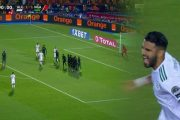 فيديو/ هدف عالمي وحاسم لمهاجم الجزائر رياض محرز في الوقت الميت لمباراة نصف نهائي الكان أمام نيجيريا !