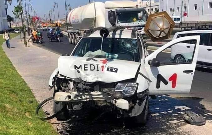 """إصابة مراسل لقناة """"ميدي1تيفي"""" في حادث سير بتطوان !"""