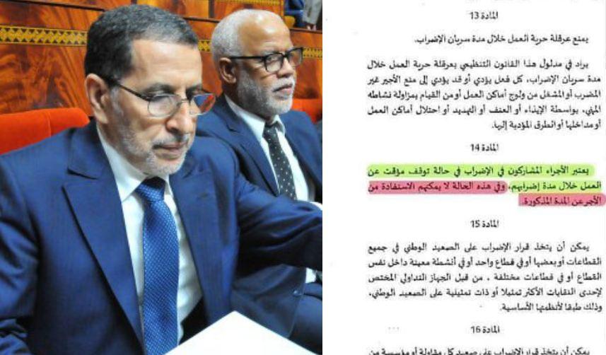 الإقتطاع من الأجور يشعل الصراع حول قانون الإضراب بين الحكومة و النقابات !
