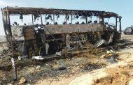 صور/حريقٌ يلتهم حافلة لنقل المسافرين بين أكادير وآسفي كاد يوقع عشرات الضحايا