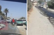 صور/إحتجاجات بقطع الطريق التي تتسببُ في حوادث مُميتة بين المحمدية وفضالات ببنسليمان