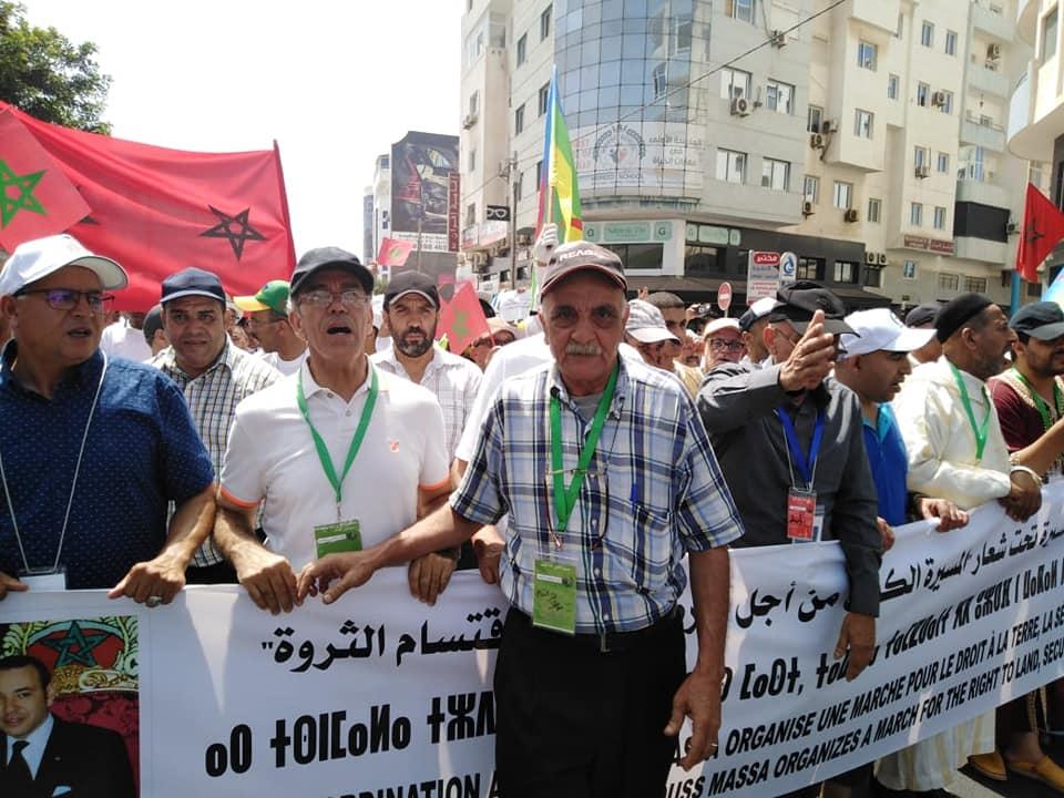 فعاليات أمازيغية تتظاهر بأكادير إحتجاجاً على إجتياح الرُعاة الرُحل