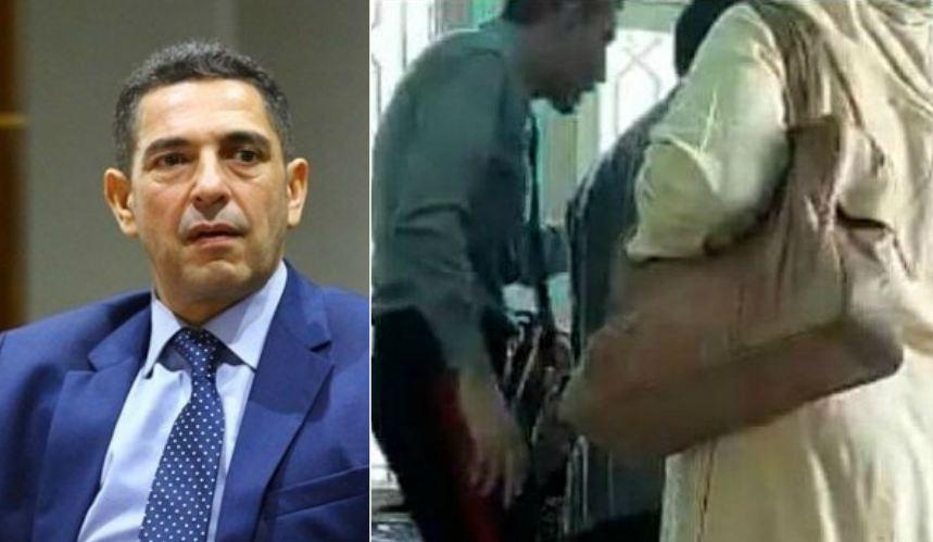 """فيديو/ """"أنا هو الملك"""".. إيقاف حارس أمن ثار في وجه سيدة داخل مقر وزارة أمزازي !"""