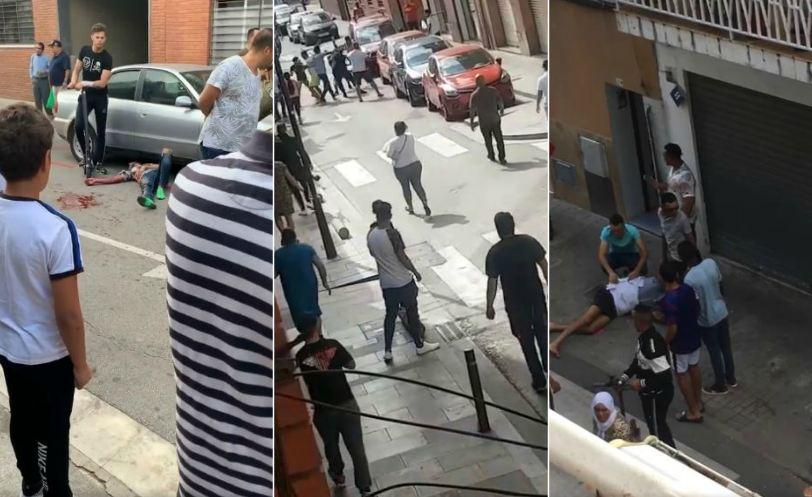 فيديو/ مواجهات عنيفة بالأسلحة بين مهاجرين مغاربة و 'غجر' تسقط ضحايا ببرشلونة !