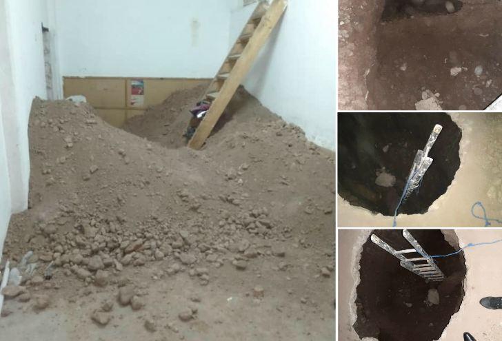 صور/ اكتشاف نفق تحت أرضي يؤدي إلى وكالة بنكية بمراكش و الأمن يعتقل شخصين !