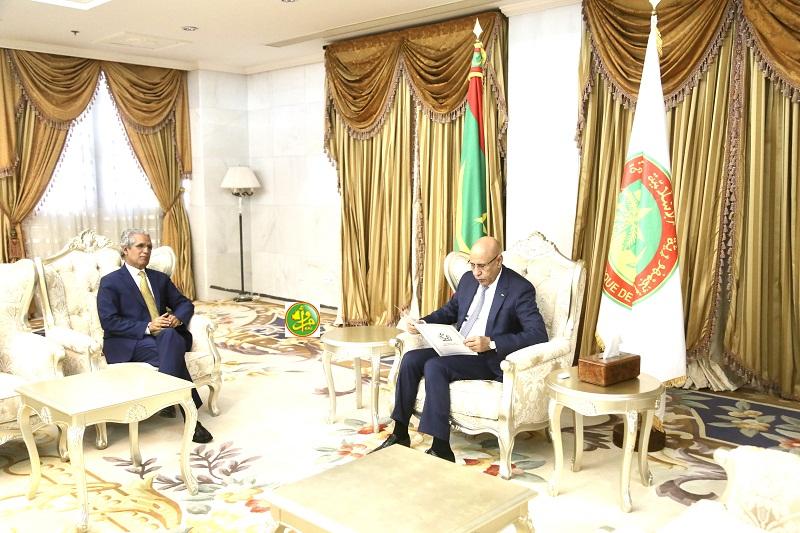 الرئيس الموريتاني يخصص استقبالاً رسمياً لوزير خارجية البوليساريو !