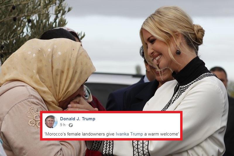 ترامب : المغربيات خصصن استقبالاً حاراً لابنتي إفانكا !