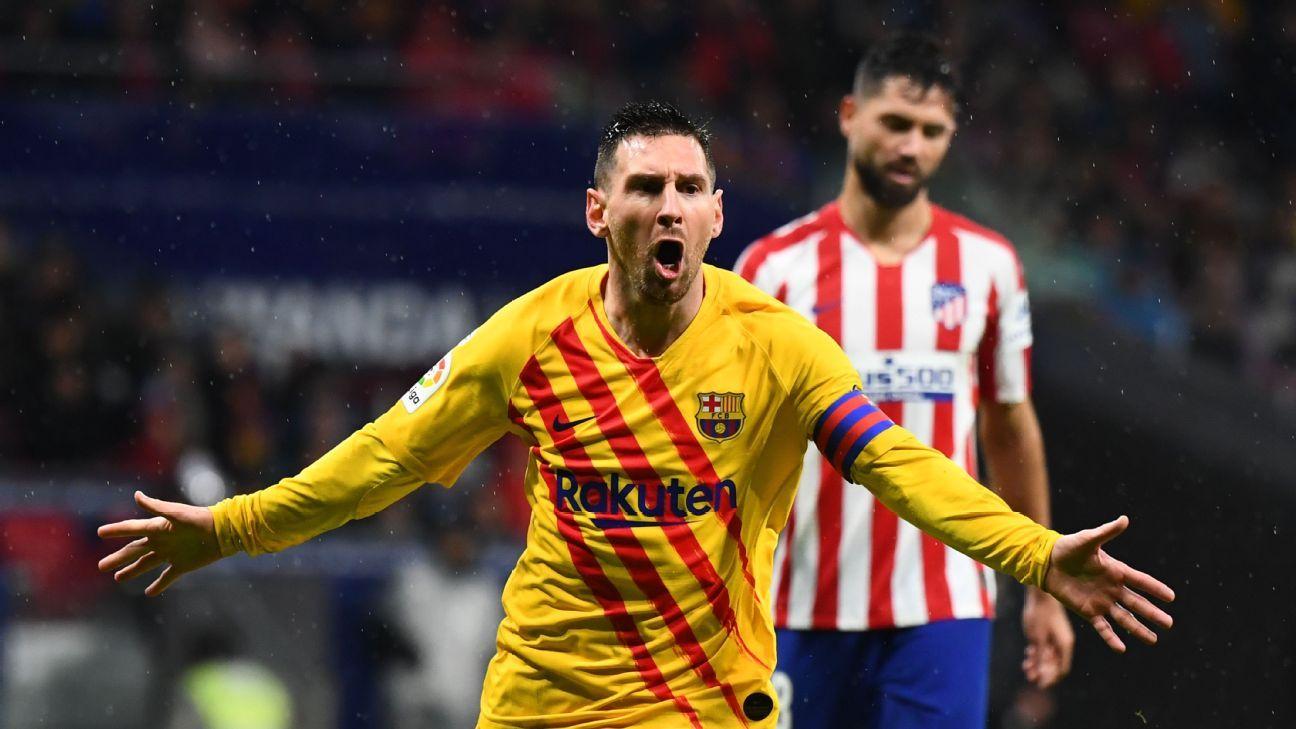 ميسي يقود برشلونة لهزم أتلتيكو مدريد في آخر الأنفاس ليُشعل الصراع على الليغا مع الريال